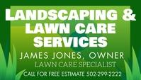 Landscaping lawn care service Kartu Bisnis template