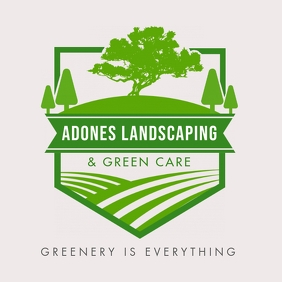 Landscaping Logo Shield template