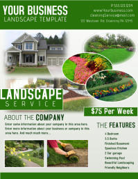 Lawn Service Flyer Templates Postermywall Landscaping Design