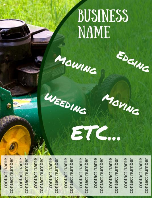 Landscaping Promo design