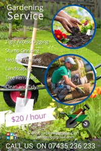 Landscaping service poster