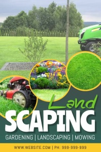 Landscaping Service Video Poster template