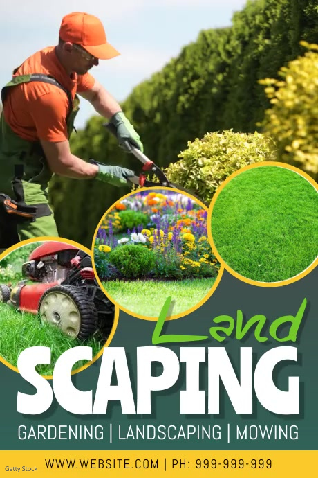Landscaping Service Video Poster Plakat template