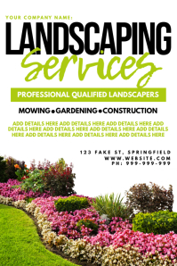 Landscaping Services Poster