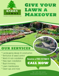 Landscaping Services Flyer (US Letter) template