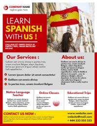 language school flyer advertisement