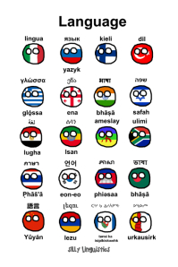 Languages from around the world