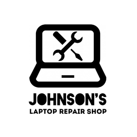 Laptop computer repair shop logo