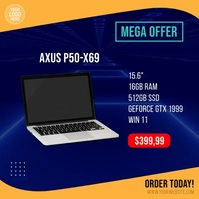 Laptop Computer Sale Offer Square Video template