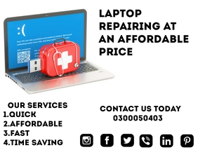 Laptop Repair poster Flyer (US Letter) template