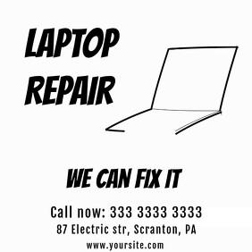 Laptop Repair simple animation Video Ad