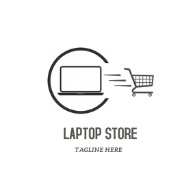 Laptop store logo template