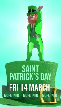 Large Saint Patrick's Day Party Facebook Historia de Instagram template