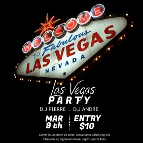 LAS VEGAS PARTY TEMPLATE