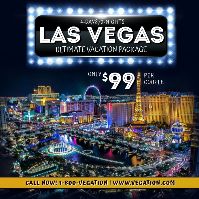 Las Vegas Vacation Package Flyer Template Postermywall