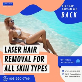 Laser Hair Removal Ad Message Instagram template