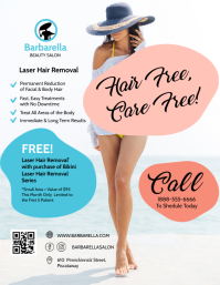 Laser Hair Removal Flyer Template