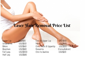 Laser Hair Removal Price List Template Postermywall
