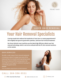 Laser Hair Removal Treatment Flyer