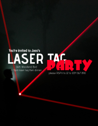 Laser Tag Pamflet (Letter AS) template
