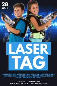 Laser Tag Poster template
