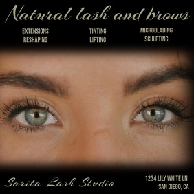 Lash and Brow Video Square (1:1) template