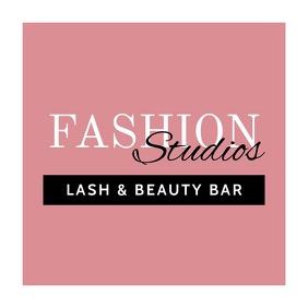 Lash Beauty Bar Fashion Logo Template