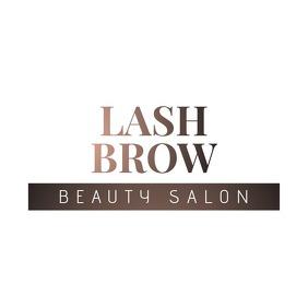 Lash Brow Beauty Salon Transparent Logo