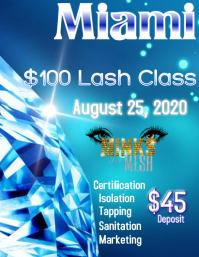Lash Class Flyer template