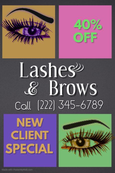 Lashes & Brow Ad Poster
