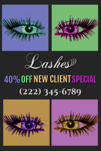 Lashes Ad Poster