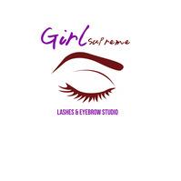 lashes and eyebrow studio hair salon 徽标 template