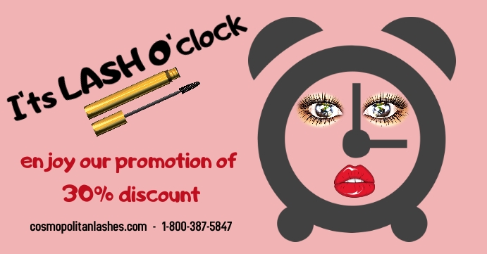 lashes/beauty & spa/hair salon/pestañas ปกอีเวนต์ Facebook template