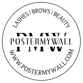 Lashes Brows Insta Promo Black and White Logo template