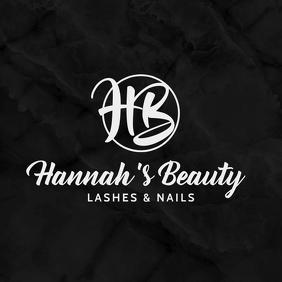 Lashes Nails Instagram Profile Logo