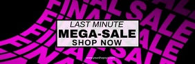 last minute mega sale advertisement finale % Email Header template