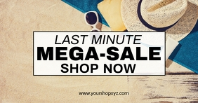 Last minute MEGA Sale Advert Shopping Discount Promo Beach Facebook-Anzeige template