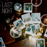 Last Night Party Album Song Cover Art Capa de álbum template