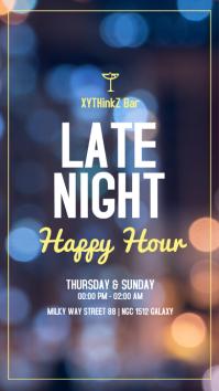 late night happy hours template story ad bar История на Instagram