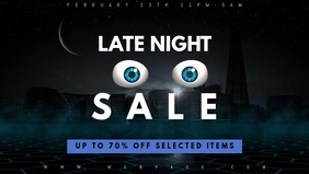 Late night sale facebook cover promotion video template
