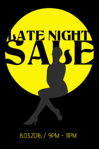 late night sale poster