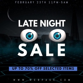 late night sale video promotion template for instagram