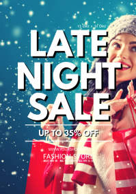 Late night shopping sale store retail market