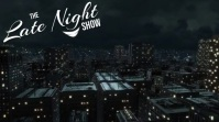 LATE NIGHT T.V. OR TALK SHOW RADIO INTRO Display digitale (16:9) template