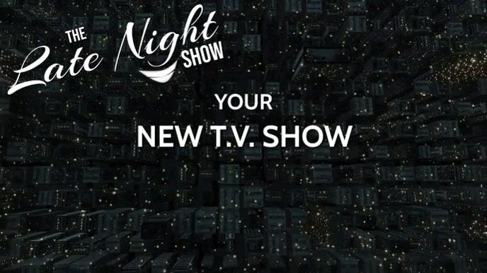 LATE NIGHT T.V. OR TALK SHOW RADIO INTRO Digitale display (16:9) template
