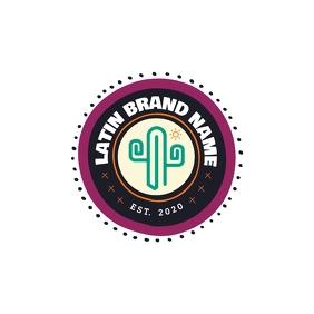 Latin Brand Logo Logotipo template