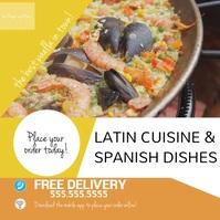 Latin Cuisine Food Restaurant Instagram template