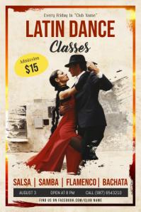 Latin Dance Classes Poster Template