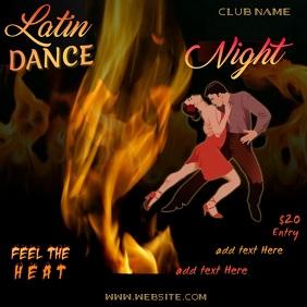 Latin Dance Night Video Square (1:1) template