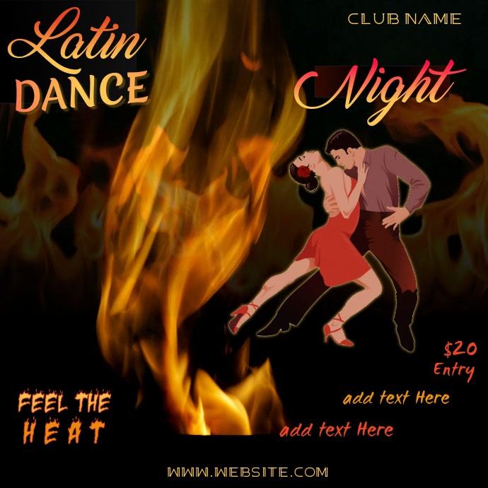 Latin Dance Night Video Kvadrat (1:1) template